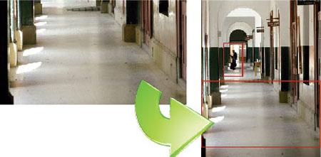 Es una función que permite girar 90º la imagen con una orientación vertical, llamada habitualmente, formato pasillo. De ese modo se aprovecha un mayor campo de visión en ciertos escenarios. Una imagen horizontal puede hacernops desaprovechar grandes areas de visión en las imagenes.